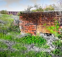 Balcombe Viaduct and Pill Box - HDR  by Colin J Williams Photography