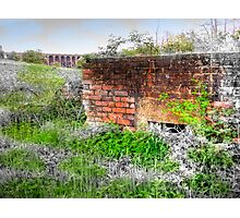 Balcombe Viaduct and Pill Box - HDR  Photographic Print