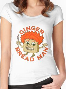 Funny Ginger Bread Man Christmas Pun Women's Fitted Scoop T-Shirt