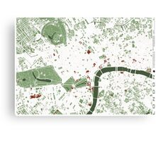 London minimal map Canvas Print
