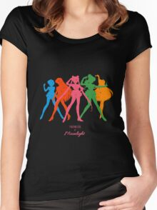 Fighting evil by Moonlight Women's Fitted Scoop T-Shirt