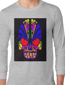 Skull in color Long Sleeve T-Shirt