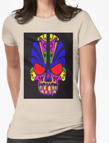 Skull in color Womens Fitted T-Shirt