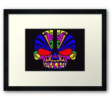 Skull in color Framed Print