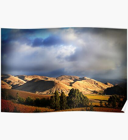 Wither Hills Autumn Afternoon Poster