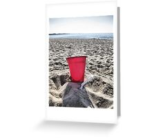 At The Beach.....Red Pail Greeting Card