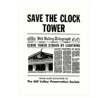 Save the Clocktower Art Print
