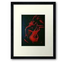 Ravenous Red Framed Print