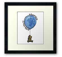 Winnie the Pooh - Adventure is Out There Framed Print