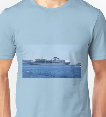 On the blue waves Unisex T-Shirt