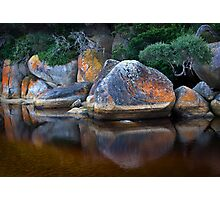 Painted Boulders Photographic Print