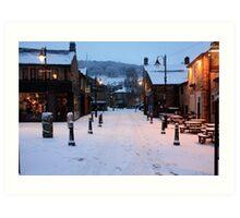 Hebden Bridge in snow Art Print