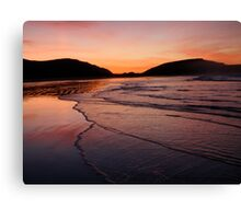 sunrise in new zealand Canvas Print