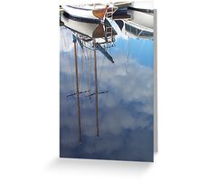 Clouded Masts Greeting Card