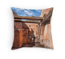Grainery - At the Tumacacori Mission  Throw Pillow