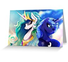 Sisters of Canterlot - with Background Greeting Card