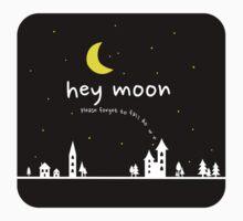 Hey Moon (on black) One Piece - Short Sleeve