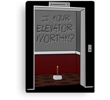 Thor's Hammer - Is YOUR Elevator Worthy!? Canvas Print