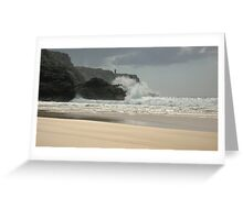 Pen Hat Beach Greeting Card