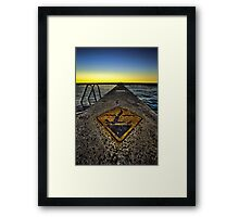 Warning - Dont Headbut the Rox! HDR Framed Print