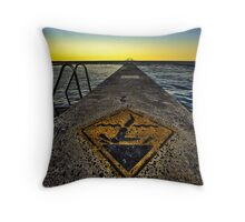 Warning - Dont Headbut the Rox! HDR Throw Pillow