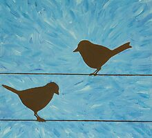 Bird on a wire by brianaelizabeth