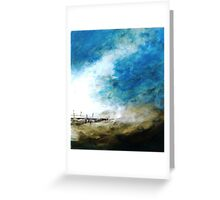 Harbour wall Greeting Card