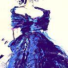 blue silk dress by RosWebb