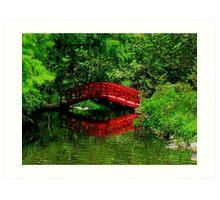 Bridge in the Woods Art Print