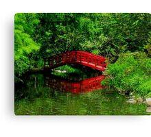 Bridge in the Woods Canvas Print