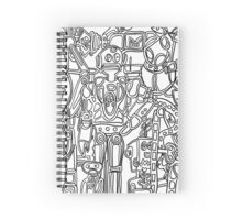 Robot Society Spiral Notebook