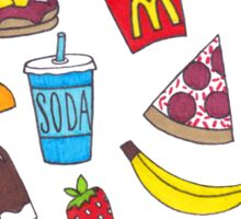 Yummy Foods Drawing Sticker