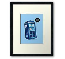Bigger on the Inside - Doctor Who Shirt Framed Print