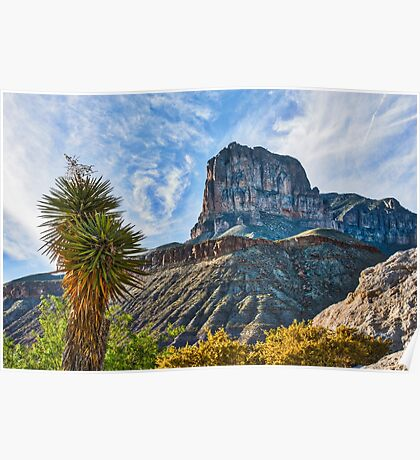 El Capitan at Guadalupe Mountains Texas Poster