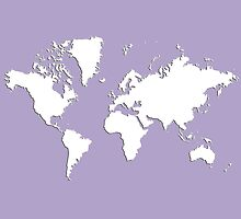 World Splatter Map - wlight purple by Mark McKinney