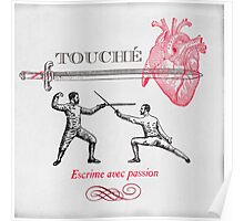 Fencing Touche Heart Poster