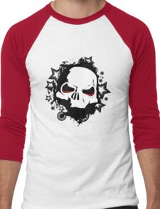 Evil Skull Men's Baseball ¾ T-Shirt