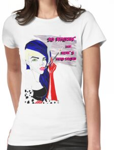 So Bitchin' The Hair's Two-Faced. Womens Fitted T-Shirt