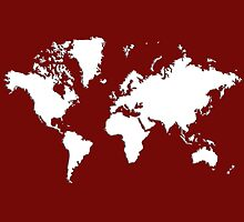 World Splatter Map - wburgundy by Mark McKinney