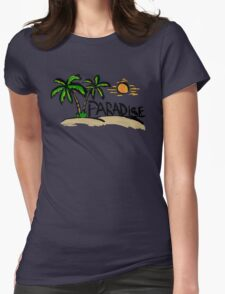 Tropical paradise Womens Fitted T-Shirt