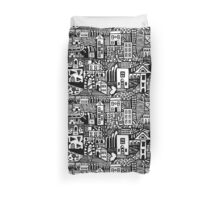 Urban Dream - Black and White Duvet Cover