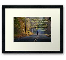 Proverbs 3:5-6 Framed Print