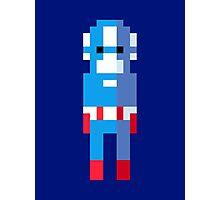 Captain America Pixel Art Photographic Print