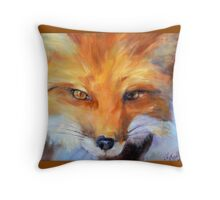 FOX from original oil painting by Madeleine Kelly Throw Pillow