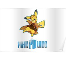 10th Doctor Pika Who? Poster