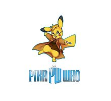 10th Doctor Pika Who? Photographic Print