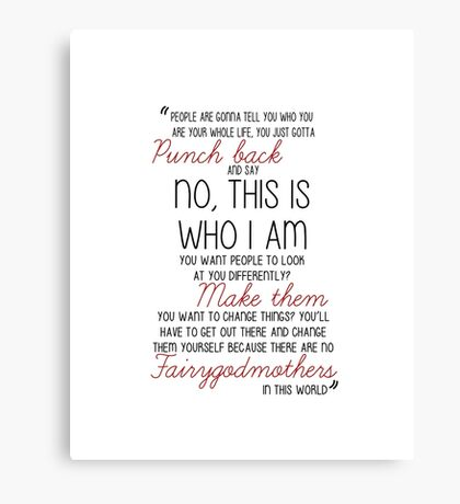 Once Upon a Time - Emma Swan Quote Red Canvas Print
