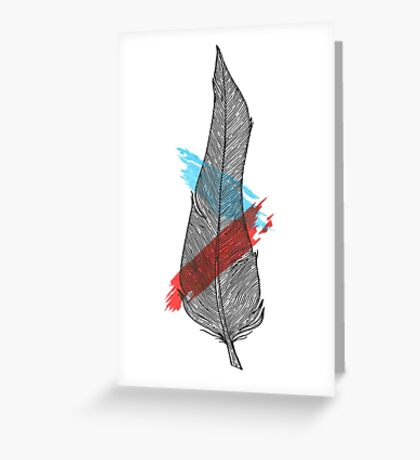Bigger Feather Greeting Card