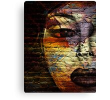 Woman on the Wall Canvas Print