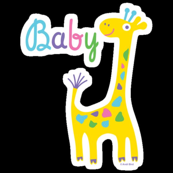 giraffe baby kids t shirt & onesie by Andi Bird